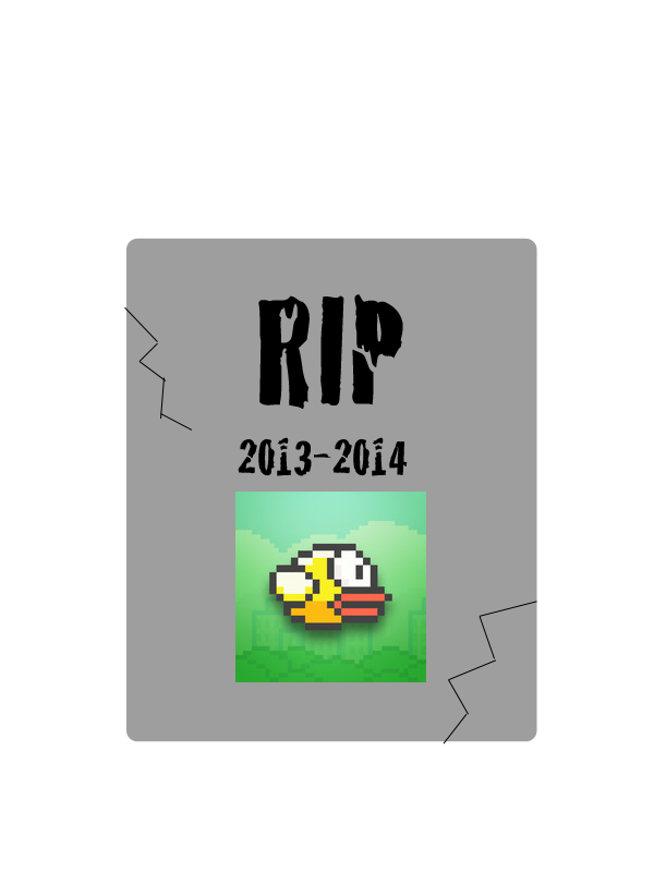 Flappy Bird tombstone