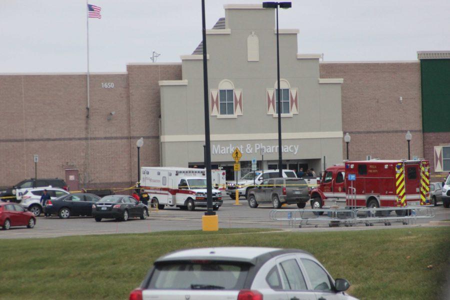 Truck Crashes into Pella Walmart