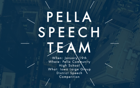 Pella Speech Team to host 2019 district large group competition
