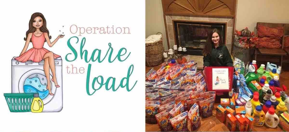 Maggie Leach with Operation Share the Load