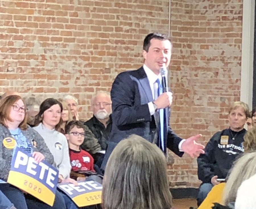 Pete+Buttigieg+Speaks+at+Tamory+Hall